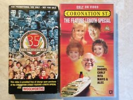 2x VHS VIDEOS (price is for all NOT EACH) - Coronation Street fans not to be missed