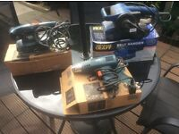 Black &a Decker Sander & Black & Decker heat gun for paint stripping