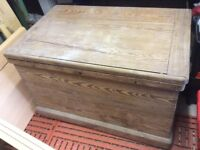 Old Wooden tool chest/trunk