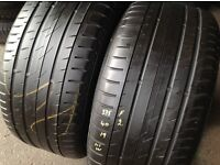275/40/19 x 2 continental Runflat/ second hand tyres- barking