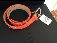 Brand New Orange Diamanté Studded Belt