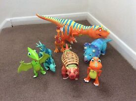 Interactive dinosaur train characters