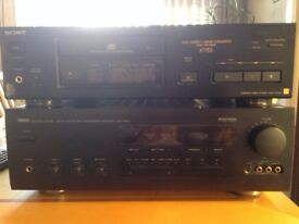 Sony X77ES CD Player, Yamaha DSP-A970 Amp and Yamaha NS-200 Speakers