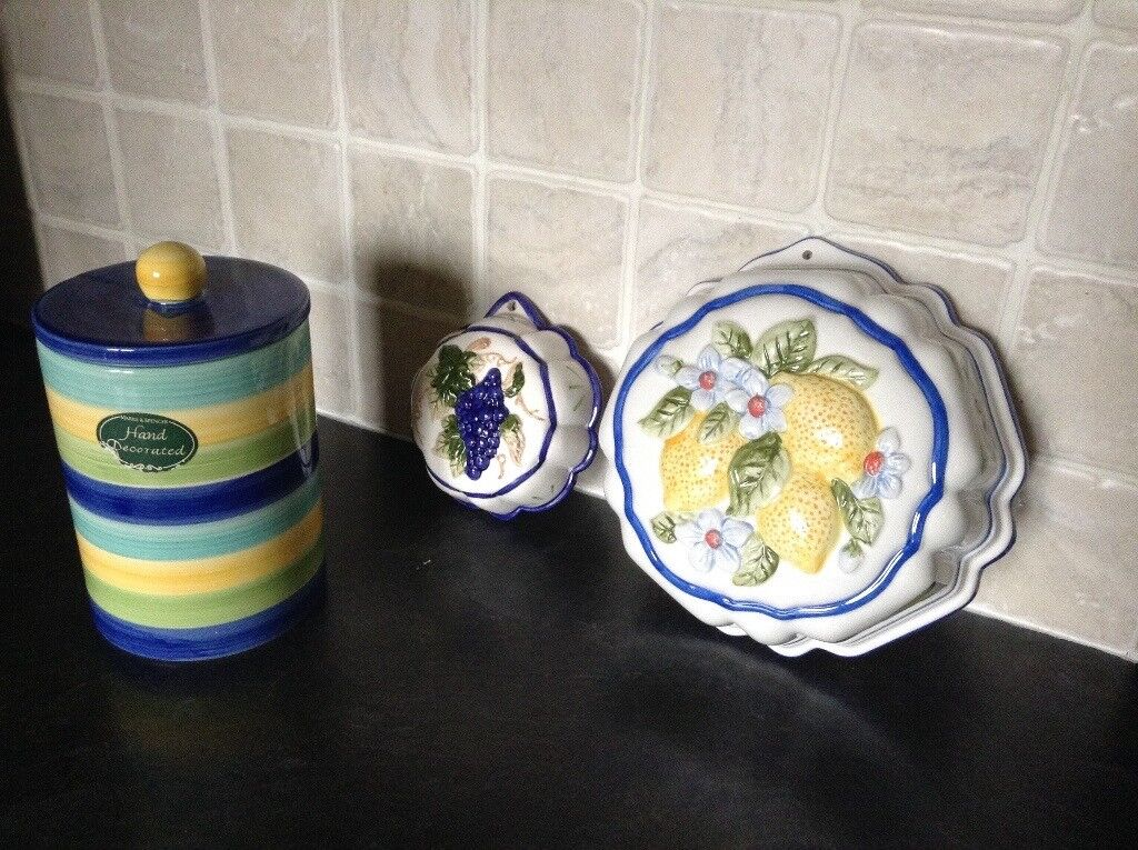 Collection of decorative kitchen items