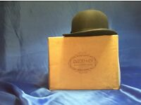 London,Dunn & Co Vintage Bolwer Hat And Box.