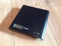 Salter Black electronic kitchen scales - in very good condition - £5