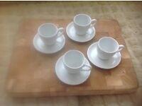 Espresso cups & saucers X 4