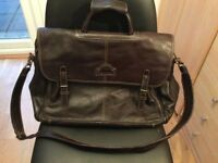 Brown Leather overnight / carry on gents bag