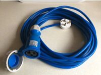 Electric Hook Up Mains UK Adaptor/Converter Cable for Caravans and Motorhomes