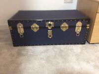 Navy storage trunk. Excellent condition.