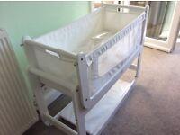 SnuzPod2 Bedside Crib 3 in 1 Eco-White inc mattress plus bedding £120