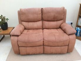 Two seat settee, recliner.