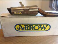 Arrow exhaust end can fits triumph 675-honda cbr600rr