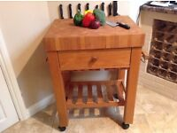 Chopping Block & Wine Rack