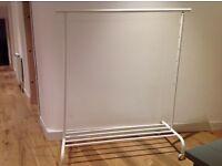 Nearly new Rigga ikea white clothes rail