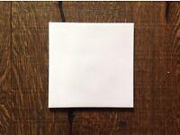 Approx 200 white ceramic tile (15cm square)