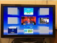 "50"" PANASONIC TX-P50VT20B SMART VIERA 3D TV PLUS 4 PAIRS OF 3D GLASSES, PANASONIC BLU-RAY PLAYER"