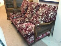 Vintage Style Berger Three Seater Sofa