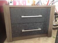 Brand new black bedside drawers still in box flat packed!