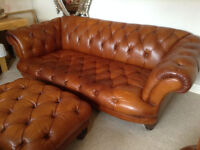 TETRAD Oskar SUITE Leather Grande Sofa Suite - 1 x Sofa- 2 x Club Chairs-1x Footstool *Delivery