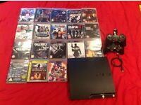 250gb PS3 18 games 2x controllers +charging dock