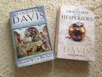 2 Lindsey Davis paperback novels from smoke free home.