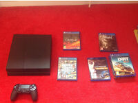 Playstation 4 with 4 Games (Grand Theft Auto 5, Project Cars, Fallout4, Dirt Rally)