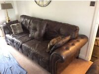 Brown leather suite (Drop Price)