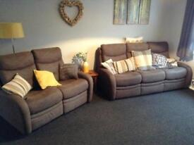 G plan three seater settee, and two seater recliner, nearly new conditon.