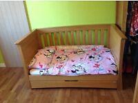 Mamas and Papas Oak Ocean cot bed.