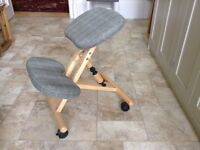 Kneeling chair reupholstered and in good condition