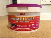 BAL micro colour ebony wall tile grout - unopened 2.5kg, water repealing and anti mound