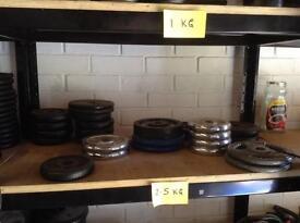 2.5kg Standard Cast Iron Weights (£1 per 1kg)
