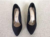 Ladies black suedette shoes