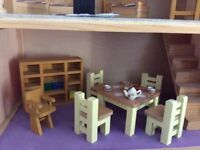 Dolls house with John Lewis furniture