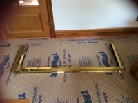 Brass lacquered fireplace fender