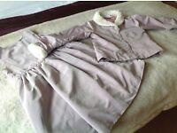 Childrens Dress and Matching Jacket 3/4 yrs