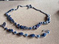 Ladies necklace and bracelet