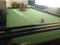 6ft by 3 ft Snooker and Pool Table Excellent Condition