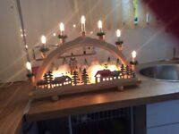 Christmas candle bridge lights