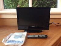 """Ferguson 16""""HD 12v LCD combi tv with freeview ideal for caravam motor home"""