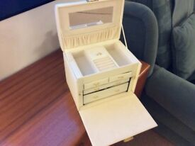 Jewellery Box,Large, colour cream with lots of departments