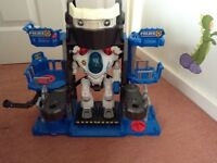 Imaginext police robot and command centre
