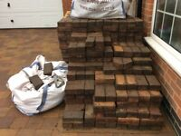 700 plus Red & Black Paving blocks for £70 !!! (10p per BLOCK)
