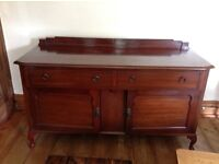 Mahogany sideboard with two large drawers and large cupboard under