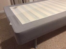 2 x Ikea single bed bases 90cm x 200cm or join them to make a super king size.