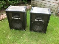 "Carlsbro 15"" PA Speakers (x2)"