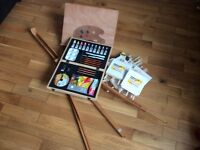 Artist easel and accessories