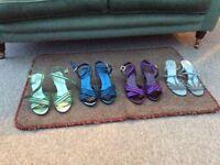 Ladies M & S Size 4 Sandals, almost new. Three Pairs.