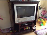 TV , TV cabinet ,sky HD box and remote on sale